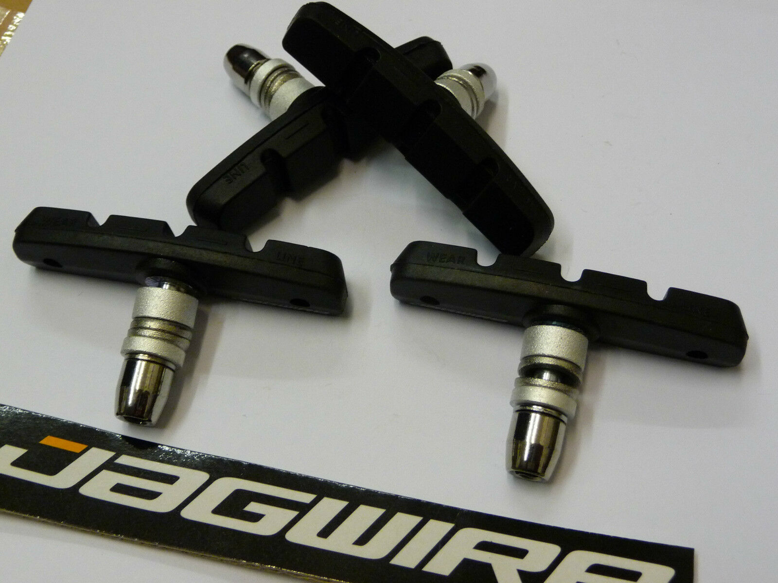 *FRONT* Jagwire V Brake Blocks Pads Bike MTB Hybrid Mountain Bike NEW Centered